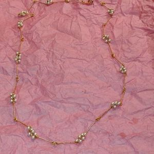 Avon goldfilled Pearl and gold necklace